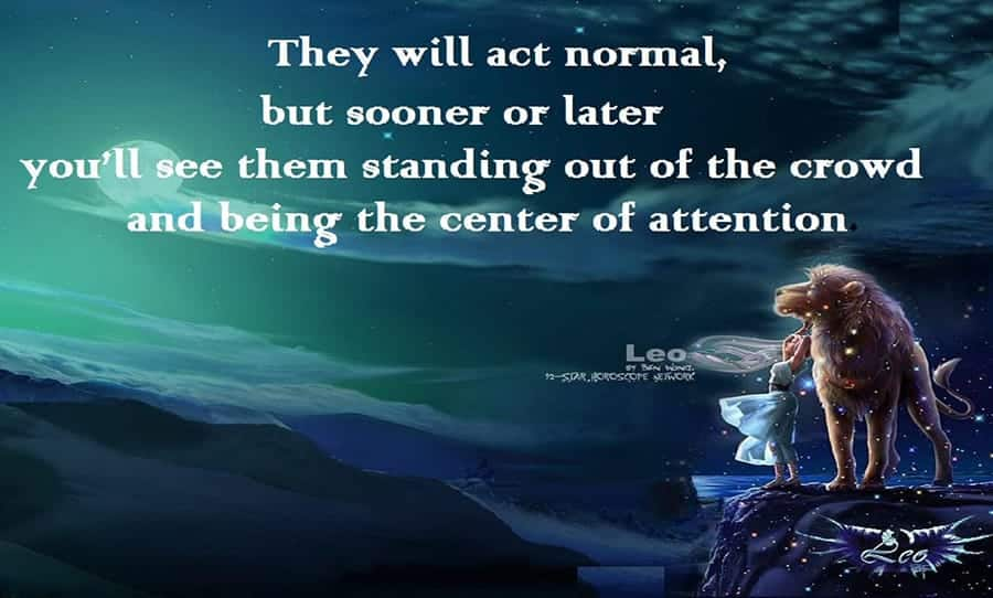 Leo: The center of attention