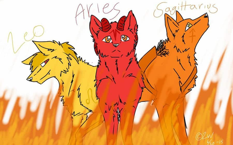 three zodiac fire signs