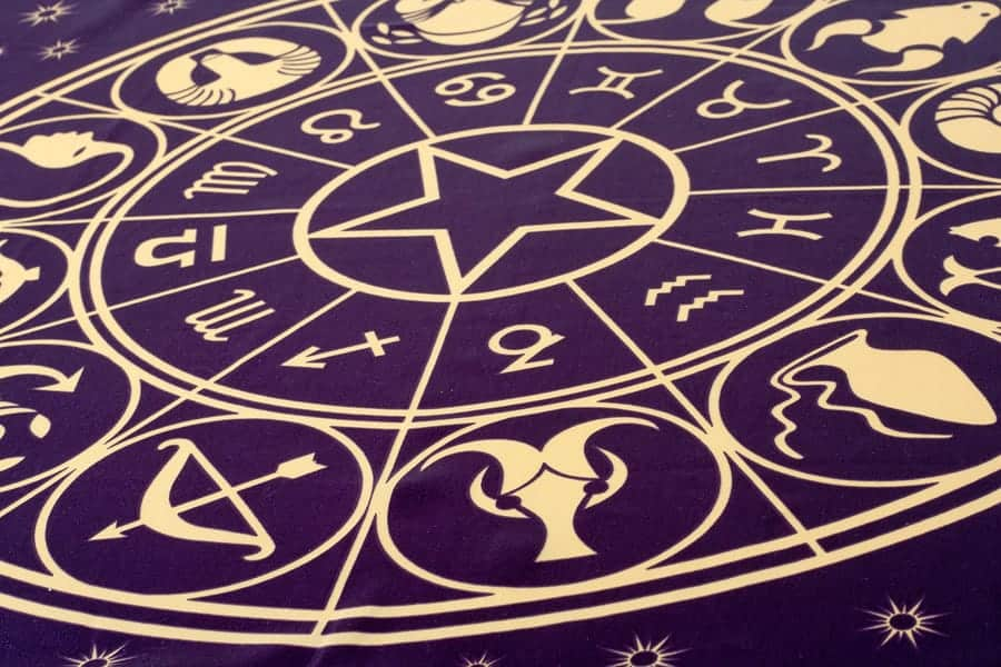 Zodiac signs wheel