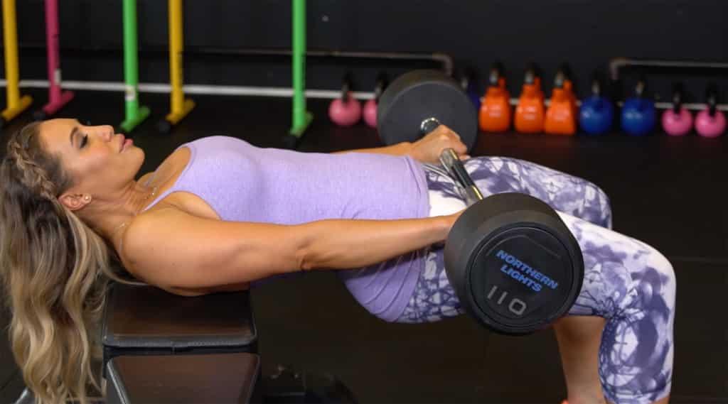 Lyzabeth Lopez fitness girl Training in Gym