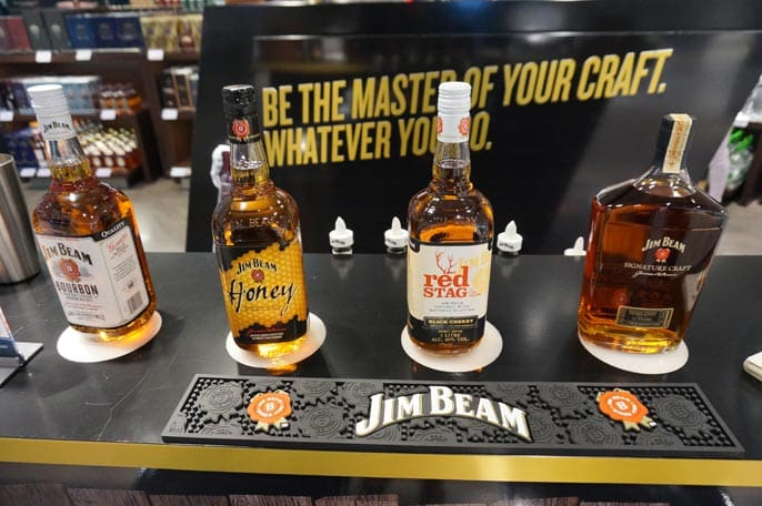 Beam Suntory in Frankfurt Airport testing JimBeam