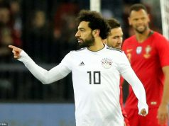 Mohamed-Salah white egypt football jersay