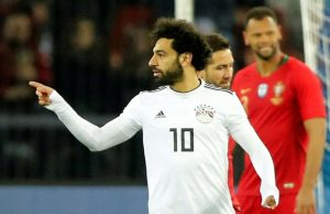 Mohamed-Salah white egypt football jersay